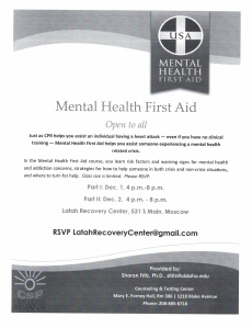 Mental Health First Aid-December