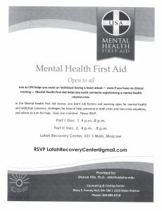 Mental Health First Aid-December