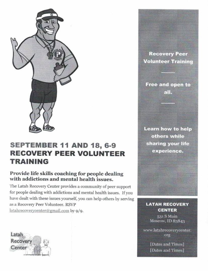Recovery Peer Volunteer Training